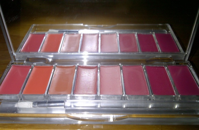 review wardah pinky peach palette
